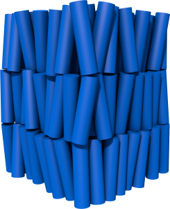 Image of a smectic A phase from Blender.
