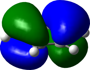 Benzene HOMO rendered in Gaussview.